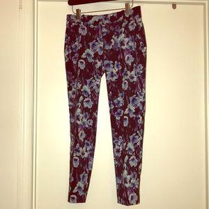 Ann Taylor Floral Pants Sz Petite 0P